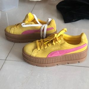 Puma x Fenty Rihanna Yellow Creeper Sneakers